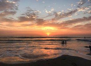 [Translate to Österreichisch:] Im Auslandssemester kalifornischen Strand und Sonnenuntergang genießen? Oder an eine US-amerikanische Ivy League Uni?